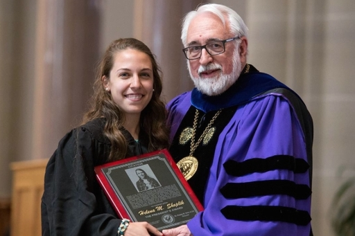 Helena Shoplik Wins President's Award at Saint Vincent College