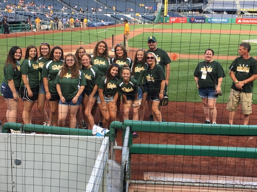 Lexi Wagner, '18, and Lady Rebels Softball Team recognized at Pittsburgh Pirates game